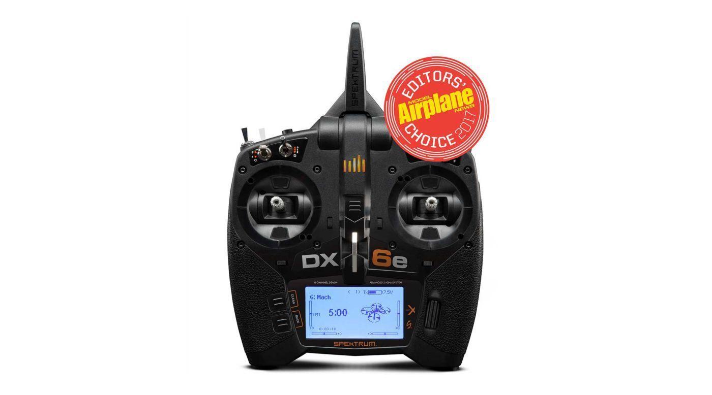 SPEKTRUM 2.4GHZ DX6e DSMX transmisor de 6 canales sólo modo 2 Heli & Aire SPMR 6650