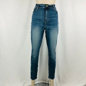 LOFT-Jeans-Size-10-Womens-High-Rise-Skinny-Ankle-Crop-Medium-Wash-Stretch
