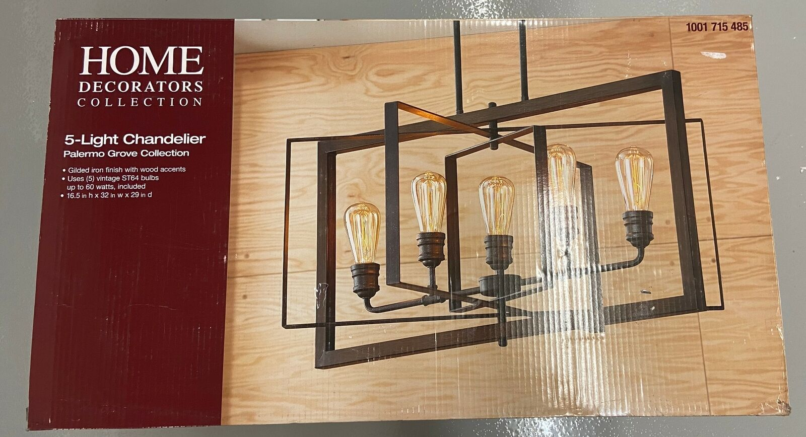 Home Decorators Collection 1001715485 Palermo Grove 5 Chandelier 1136066 C0376 For Sale Online Ebay