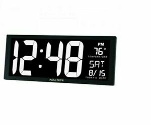 AcuRite 75159M Digit LED Calendar Clock - White