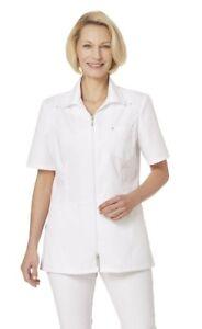 Business & Industrie Leiber 08/2658 Damen Hosenkasack Schwesternkleidung Kasack Kurzarm 1/2 Arm Weiß Ärzte- & Schwesternkleidung