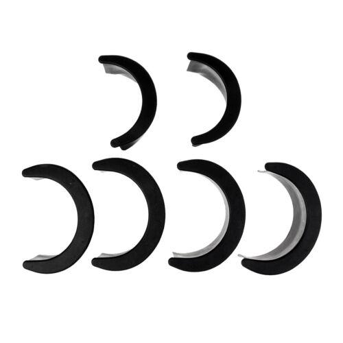 6er Set Billard Taschenpolster Einfallecken für Pool Billard Tisch Schwarz