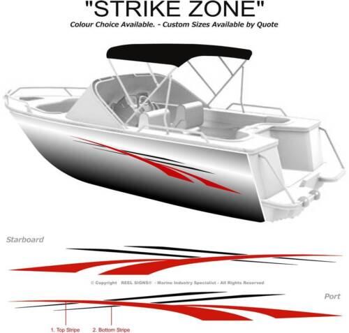 "2800/""  MARINE CAST VINYL BOAT GRAPHICS DECAL STICKER KIT /""STRIKE ZONE"