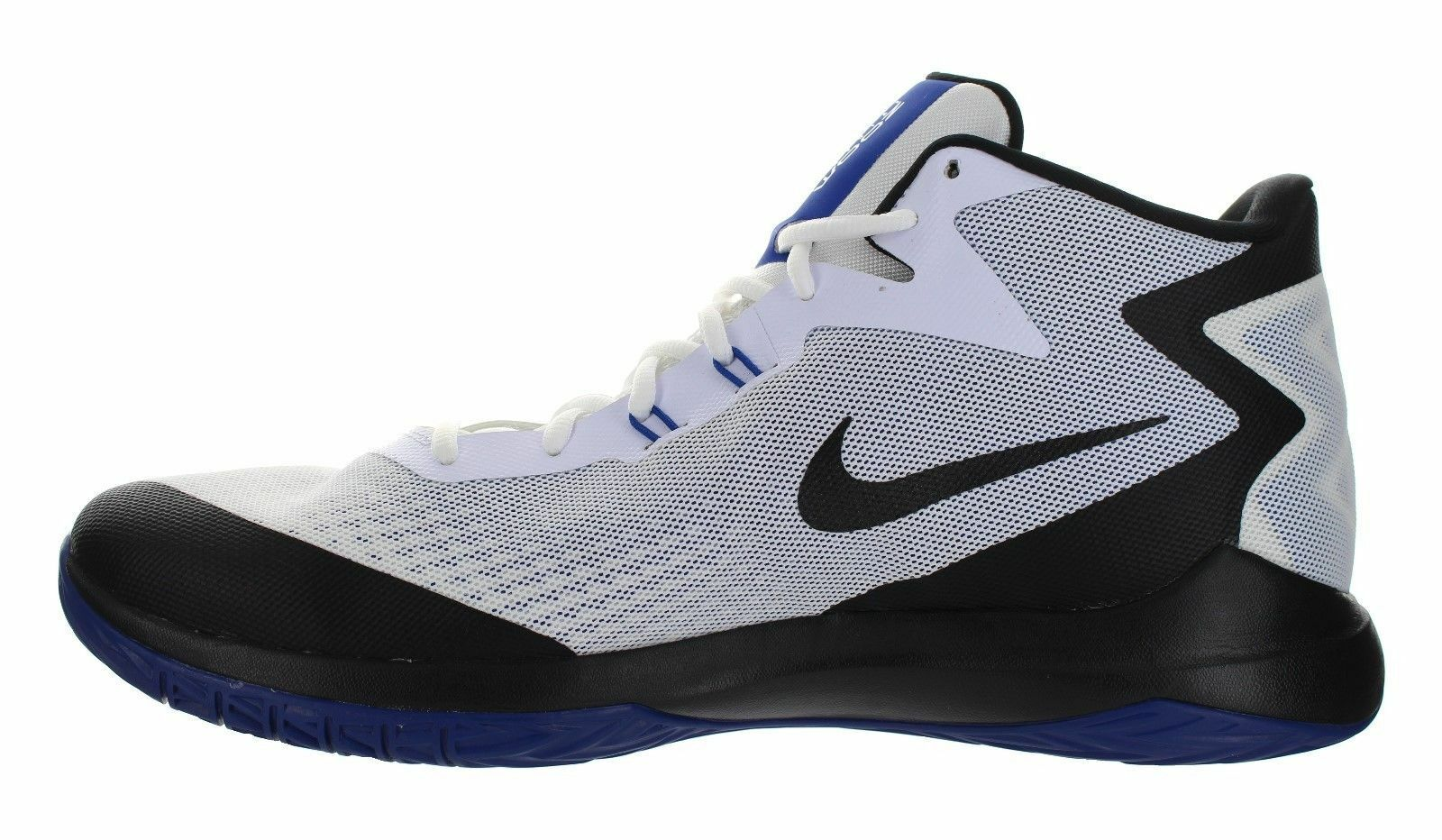 Nike zoom prove scarpe da basket sz 12 - bianco nero blu - 852464 104