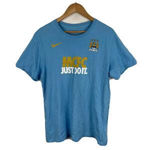 Nike-Manchester-City-FC-Mens-Football-T-Shirt-Size-XL-Slim-Fit-Short-Sleeve