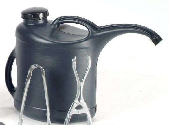 FireFix Heizölkanne 10 l anthrazit Ölkanne inkl Aufsteckhülse und Schraubdeckel