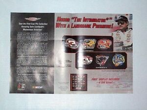 2004-Dale-Earnhardt-Great-Victories-Pin-Collection-Print-Advertisement-Page-Ad
