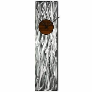 Modern-Wall-Clock-Silver-Home-Decor-Root-Beer-Kitchen-Metal-Wall-Abstract-Clock
