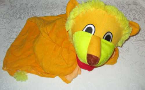 Lion Puppet Friend Terrycloth Plush Material Moveable Mouth and Hands Brand New