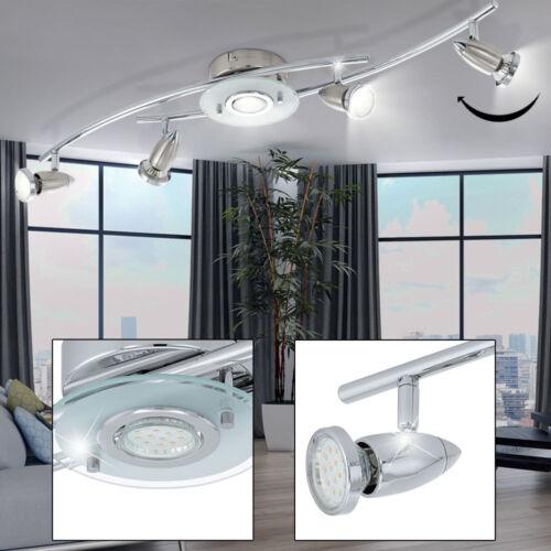 LED Decken Leuchte Esszimmer Strahler Balken Spot Lampe schwenkbar silber EEK A+
