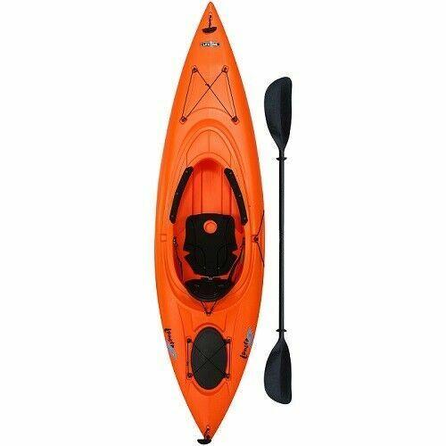 Orange Sit in Kayak Lake River Excursion Fishing Camping 1 Person Kayaks  Oar for sale online | eBay