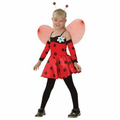 GIRLS LADYBIRD INSECT FANCY DRESS COSTUME SIZES 4-12 YEARS BOOK WEEK DAY