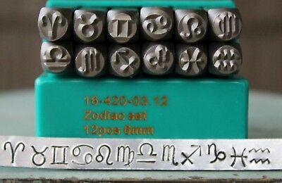 Aries Design Stamp Zodiac Stamps ImpressArt Stamp Carbon Steel Stamp SC1521-A-6MM Metal Works Stamp Metal Stamp