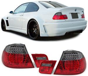 LED-Rueckleuchten-rot-schwarz-Facelift-Optik-fuer-BMW-3ER-E46-Coupe-99-03