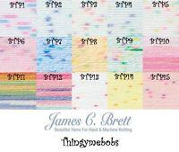 JAMES C BRETT BABY TWINKLE PRINTS DK/DOUBLE KNITTING WOOL/YARN - 100g BALLS