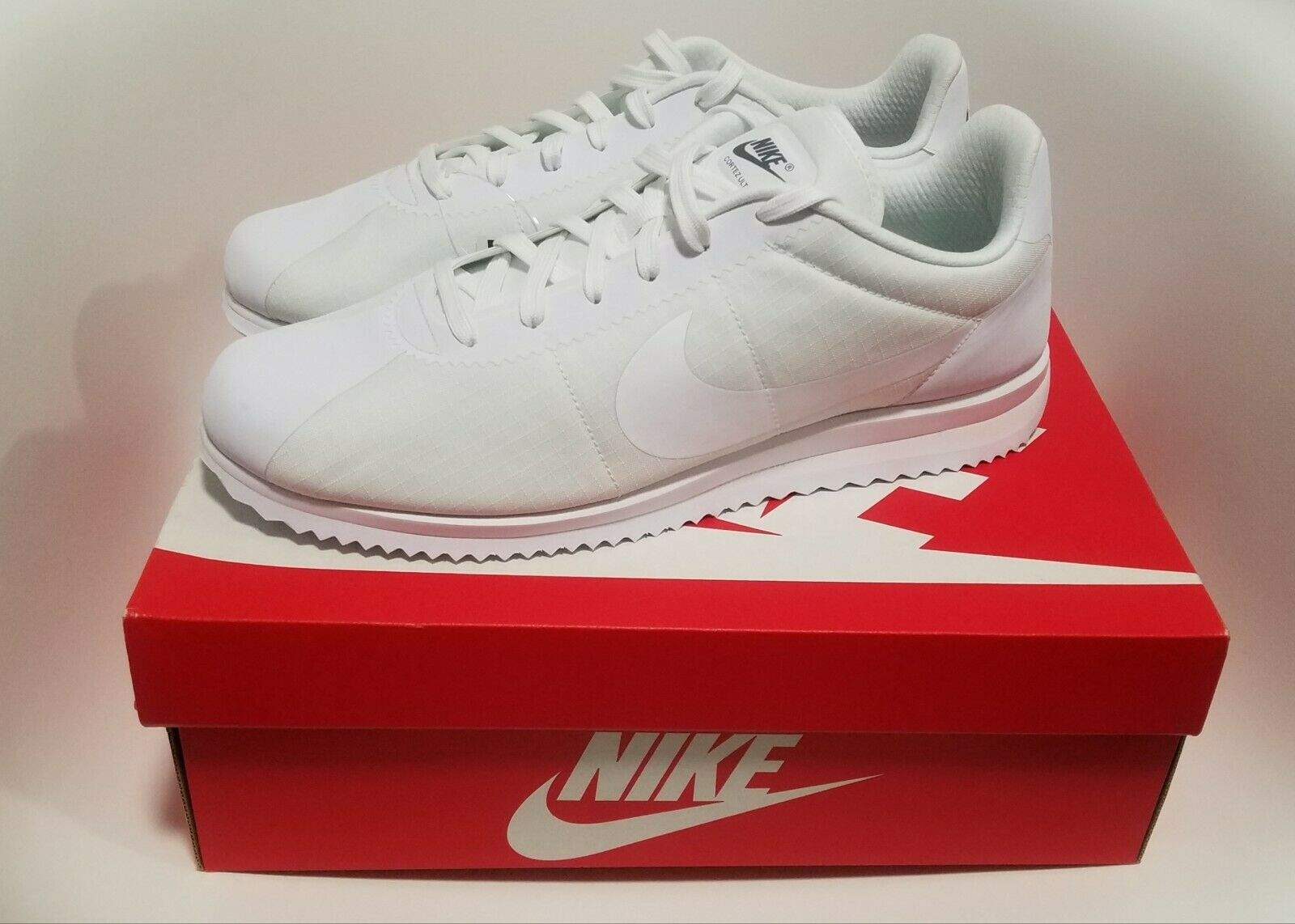 100 Nike Cortez Ultra Textile Men's Size 12 shoes White Cool Grey 833142-101