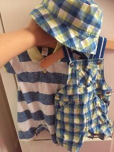 Boys-Outfits-And-Hat-6-9-Months