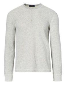 Details about Polo Ralph Lauren Men s Grey Cream Heathered Long Sleeve  Henley T-Shirt 007d195d5b3