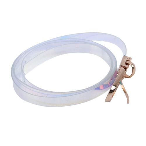 Girls Fashion Waist Belt Shiny Long Thin Metal Buckle Dress Waistband Belt G