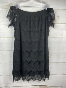 City-Chic-Lace-Off-Shoulder-Shift-Party-Dress-Plus-Sz-XXL-24W-Black-NWT-119