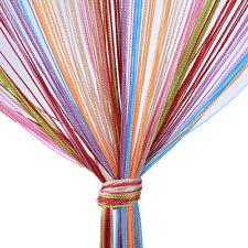 Neu 1*2m Fadenvorhang Türvorhang Bunt Vorhang Regenbogenfarbe Dekoschal Gardine