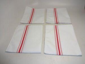 4-Bistro-Stripe-Napkins-18-034-x-22-034-100-Polyester-White-Red-Garnier-Thiebaut