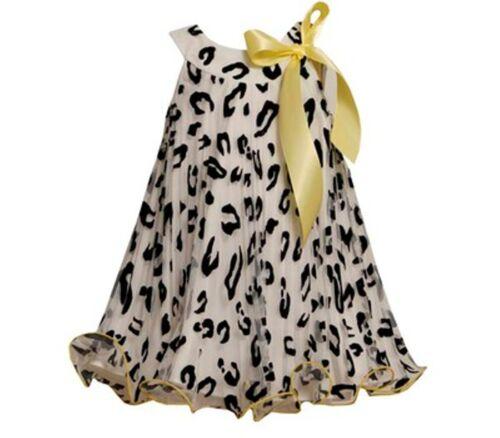BONNIE JEAN NEW ANIMAL PRINT SUNBURST PLEAT TRAPEZE GIRL/'S BOUTIQUE DRESS