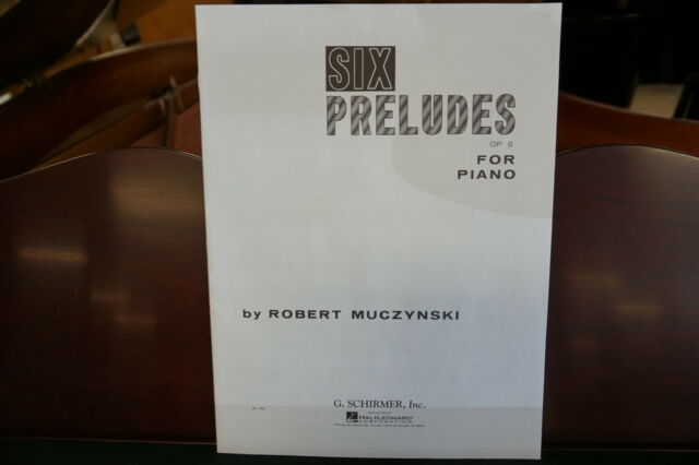 Six Preludes Op 6 Piano Solo Piano Large Works NEW 050330000