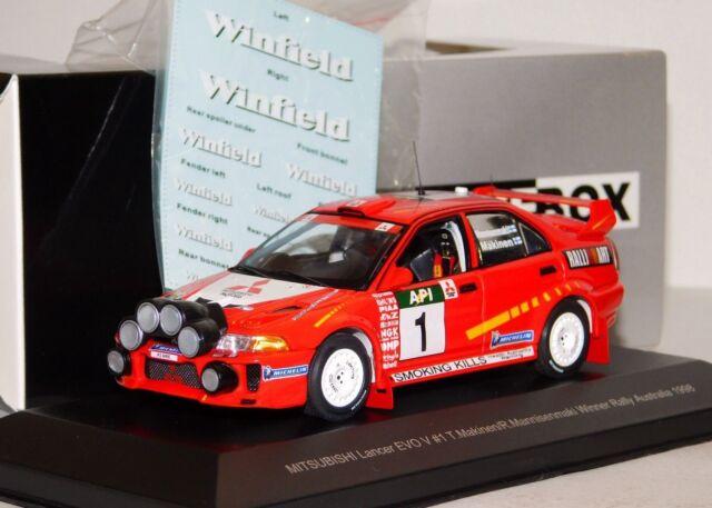 Mitsubishi Lancer Evo V #1 Winner Australia 1998 Makinen Mannisenmaki 1:43 Model