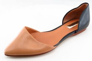 Halogen-D-039-Orsay-Flats-Black-Leather-Women-Shoes-Size-6-Medium-B-M