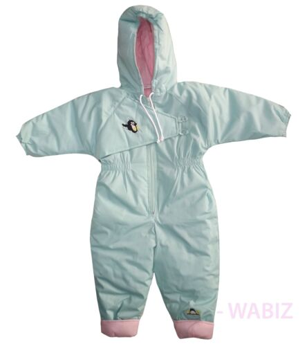 Kids Girls Boys Snuggler Insulated Padded Snowsuit Winter Baby All-In-One RRP£30