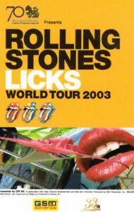 ROLLING STONES 2003 WORLD LICKS TOUR THAI CONCERT PLASTIC TICKET-BANGKOK-UNUSED