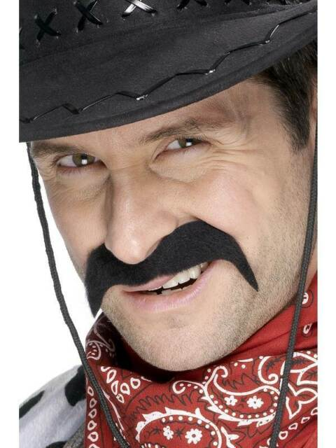 Cowboy Tash, One Size, Cowboys and Indians Fancy Dress/Cosplay #CA