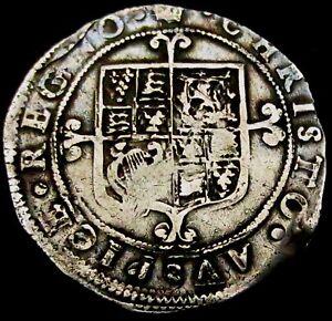 T112-1660-62-Charles-II-Hammered-Silver-Shilling-im-Crown-Spink-3322