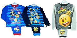 Boys-Emoji-Pyjamas-nightwear-pyjama-set-sleepwear-cotton