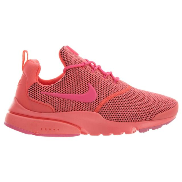 best sneakers 50f5c 4d0c4 Nike Presto Fly SE Womens 910570-604 Hot Punch Pink Mesh Running Shoes Size  7