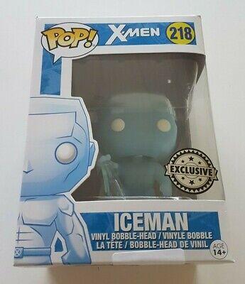"""EXCLUSIVE MARVEL X-MEN ICEMAN 3.75/"""" POP VINYL FIGURE FUNKO UK SELLER 218"""