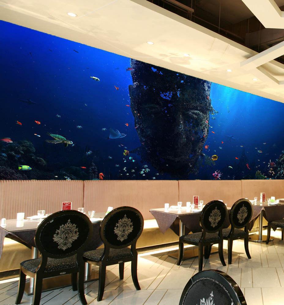 3D Ocean Fish Picture WallPaper Murals Wall Print Decal Wall Deco AJ WALLPAPER