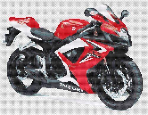 Suzuki GSXR 600 K6 Countd Cross Stitch Kit Motorbike