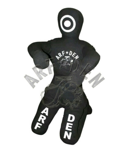 Brazilian Grappling Canvas Kneeling Dummy MMA Judo Wrestling UFC Black 5ft