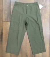 Sag Harbor Capri Pants 100% Lightweight Cotton Women's Size 8