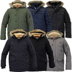 Boys Jacket Parka Coat Brave Soul Kids Padded Sherpa Hooded Fur ...