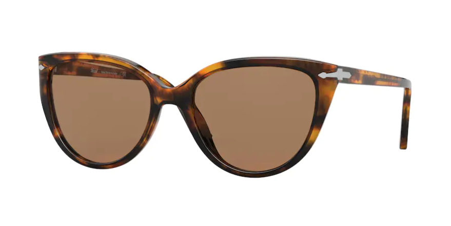 Persol 0PO 3251S 108/53 Caffe/Brown Butterfly Woman Sunglasses