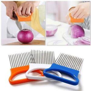 Easy-Cut-Onion-Holder-Fork-Stainless-Steel-Tomato-Cutter-Needle-Met-V8G5
