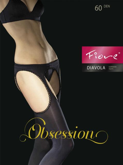 Fiore Diavola Obsession opaque Collant imitation porte-jarretelle 60 DENIER