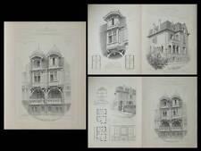 MALO LES BAINS, WIMEREUX - PLANCHES ARCHITECTURE 1905 - MEURILLON BAERT BOIDIN