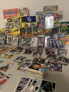 Huge Baseball collection, unopened vintage packs and cards Guaranteed value!