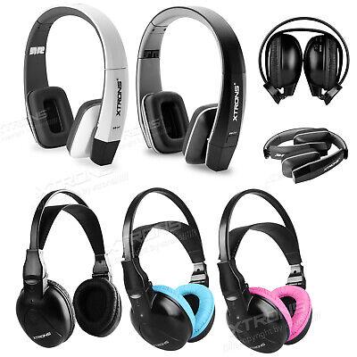 2 Channel IR Wireless Car Audio Headrest Headphone AB-Headphone