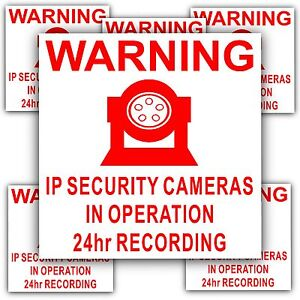6-x-IP-Camera-Security-In-Operation-Stickers-24hr-Surveillance-CCTV-Signs