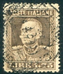 1929-Regno-lire-1-75-bruno-grigiastro-dent-13-3-4-usato-centrato-SPL